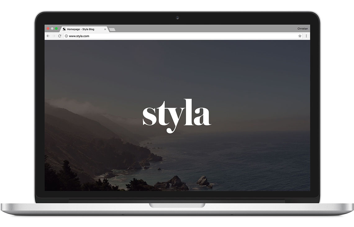 Screenshot of the Styla.com Homepage