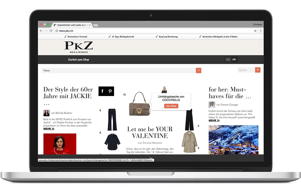 Screenshot of the PKZ Magazine